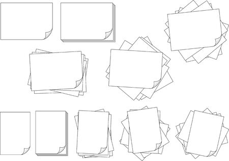 Vector material collection of paper