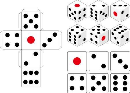Dice vector illustration material collection