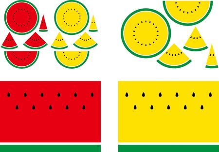 Background material illustration of watermelon 向量圖像
