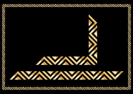 Decorative ruled vector frame material