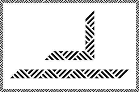 Decorative ruled vector frame material Vettoriali