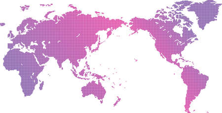 World map material written in dots 版權商用圖片 - 164550085