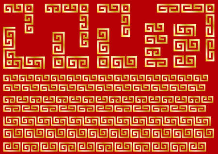 Chinese traditional decorative ruled material collection