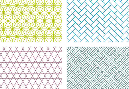 Japanese traditional Japanese pattern material