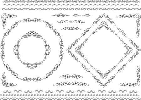 Decoration Kay vector illustration material Collection Ilustração