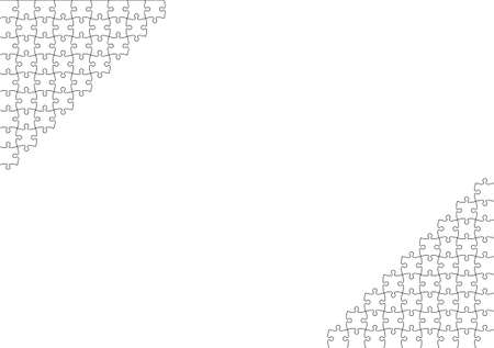 Jigsaw puzzle frame background material