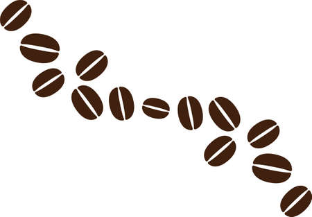 Illustration material of coffee beans Vector Illustration