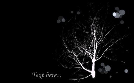 tree works: Tree holds the light to keep the frame dark stars  Create works of art from illustrator  Illustration
