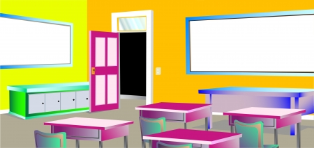 The colourful classroom Vector
