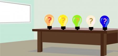 Choose the ideas on the room Vector
