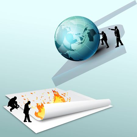 diminishing perspective: If the business were too much like greed driven world fell into the fire