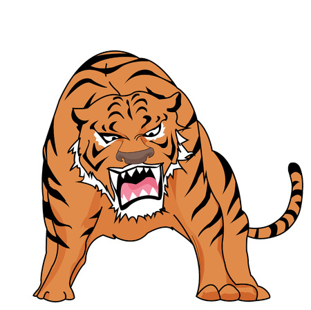 Rage of the Tiger powerful  Vector