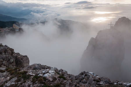 Peaks Above Clouds photo
