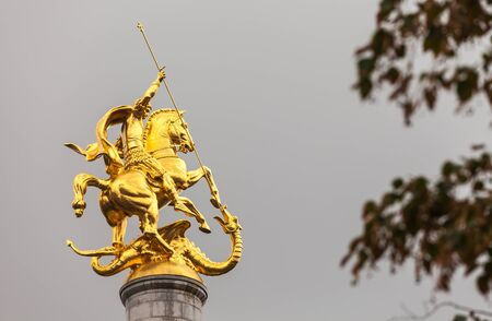 slaying: Monument to St. George in Tbilisi (Georgia).