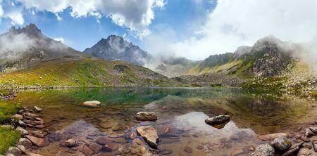 majestic mountain: Majestic mountain lake in Turkey. Summer sunset