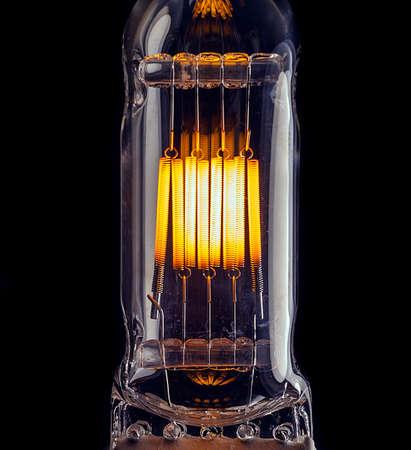 halogen light bulb, background closeup