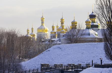Kiev-Pechersk Lavra at winter. 版權商用圖片