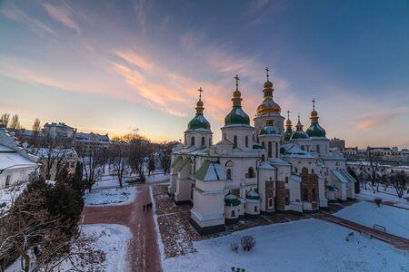 kiev: St. Sofia Cathedral, Kiev, Ukraine. Stock Photo