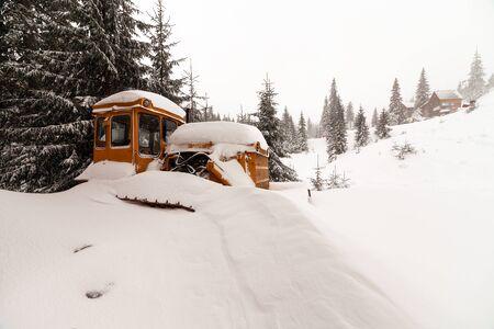dozer: Frozen dozer in high mountains