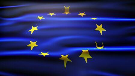 union flag: European union flag. Stock Photo