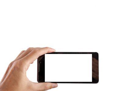 携帯電話で写真を撮る