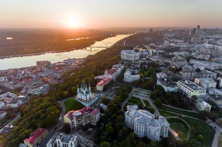 St. Andrews Church (Kiev) Ukraine. Cityscape from a height.