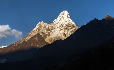 Mt. Ama Dablam in the Everest Region of the Himalayas. Nepal