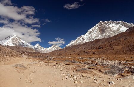 Nuptse, Everest region, Himalaya, Nepal Stock Photo