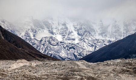 Snowy mountains. Nepal, Himalayas Stock Photo