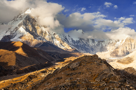 ヒマラヤの山々, ネパール 写真素材