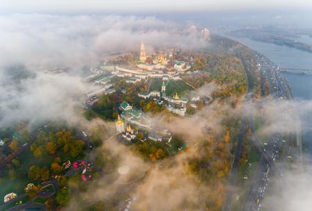 AERIAL view of the Kiev-Pechersk Lavra in Kiev. Ukraine