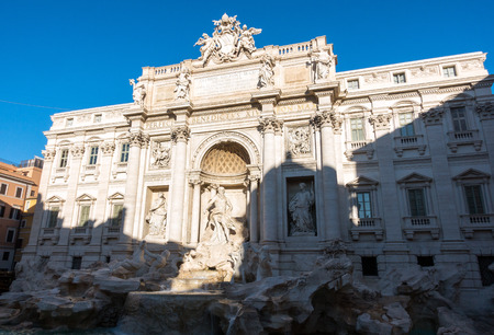 The Trevi Fountain is a fountain in the Trevi district in Rome, Italy. It is the largest Baroque fountain in Rome