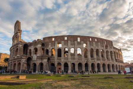 The Colosseum or Coliseum, Flavian Amphitheatre in Rome, Italy