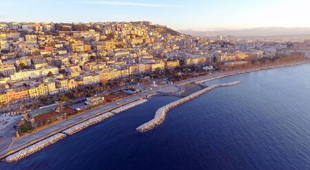 Naples, Italy. Aerial cityscape image of Naples, Campania, Italy during sunrise.