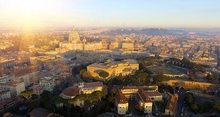 rome skyline st.peter basilica vatican city