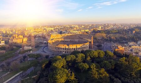 The Colosseum or Coliseum, Flavian Amphitheatre in Rome, Italy.