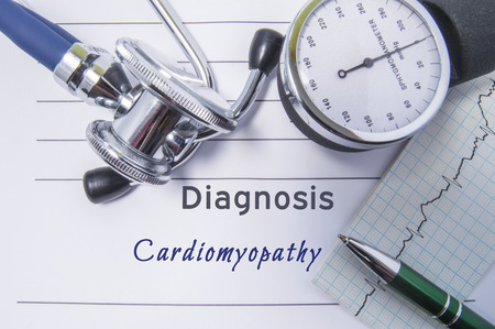 Cardiac diagnosis Cardiomyopathy.