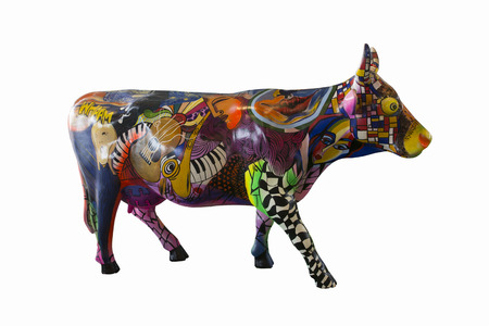 dolby: fancy cow doll colorful splendor  Beautiful and interesting for decorate  Stock Photo