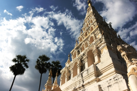 oldest: White Pagoda in chiangmai thailand is oldest archaeological site last several hundred years