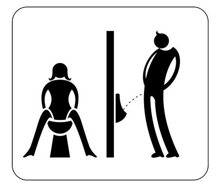 Symbole toilettes