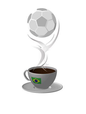Brazil ball and coffee