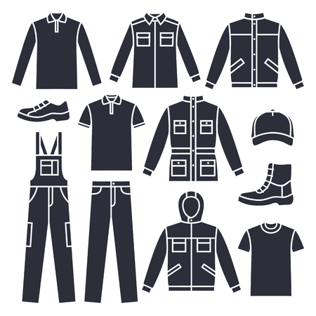 mens: Vector Mens working clothes