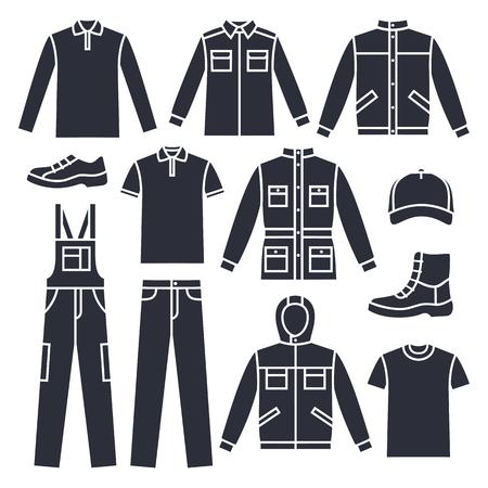 Vektor Männer Arbeitskleidung