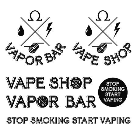 Vapor bar and Vape shop logo. Vector Illusztráció