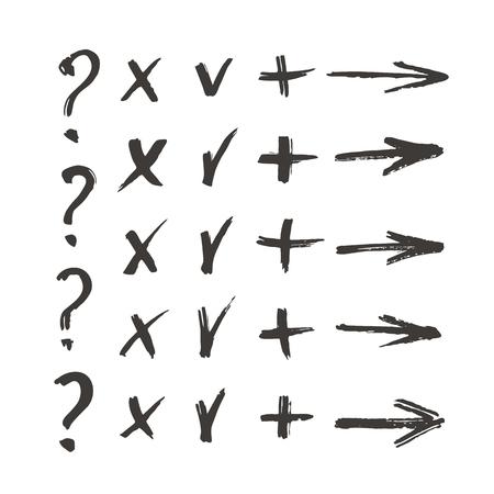 okey: Vector set of handwritten characters
