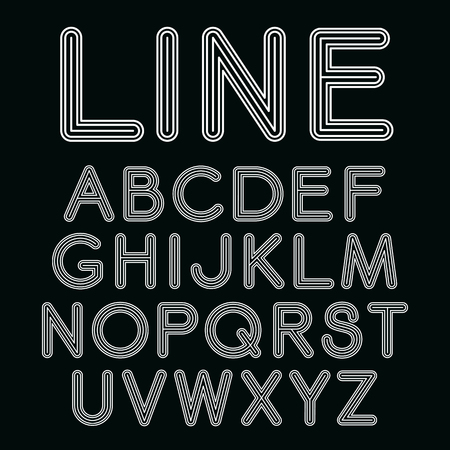 sans serif: Sans serif  font with rounded corners - typography design elements