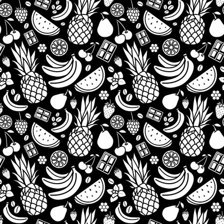 eliquid: Endless background. White print on black background. Illustration