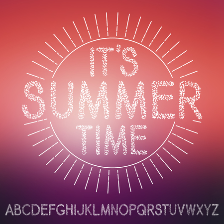 textural: summer textural font isolated on blurred background