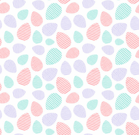 Happy Easter wrapping paper pattern. Seamless pattern