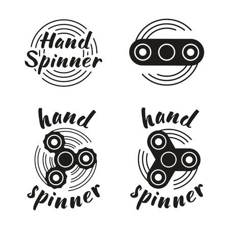 Hand Spinner emblems. Vector illustration on white background. Illustration